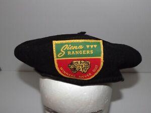 Vintage Siena College Rangers Winners Never Quit Black Beret Large By De Luxe