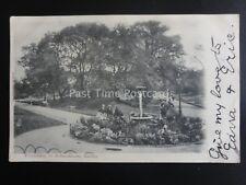 Derbyshire DERBY The Fountain in Arboretum c1902 by Valentine Series