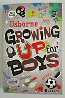 Boys / Children Usborne Growing up for Boys Paperback by Alex Frith New!!!