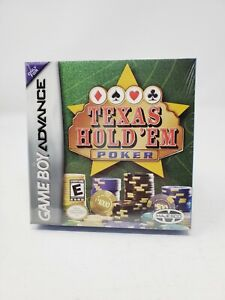 Texas Hold 'Em Poker (Nintendo Game Boy Advance, 2004) CIB NIB Factory Sealed