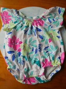 'BONDS' BABY GIRL STRETCH COTTON ROMPER PLAYSUIT SIZE 000 FITS 0-3M