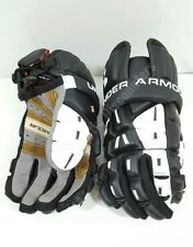 "Under Armour Ua Player Ii/2 Lacrosse Lax Gloves Black Medium 12"" Protective Gear"