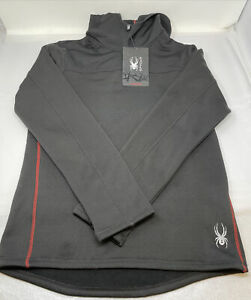 Spyder Pullover Hoodie Black with Red MEN'S SIZE MEDIUM NWT