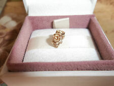 Genuine Authentic Pandora 14ct SOLID GOLD ROSE Charm 750120 585 ALE