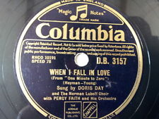 "78 rpm 10"" DORIS DAY when i fall in love / my love"