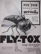 PUBLICITÉ FLY-TOX EST LE DESTRUCTEUR SCIENTIFIQUE DE LA MOUCHE PAR PULVÉRISATION