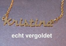 Plated Name Name Necklace Name Necklace Classy Necklace Kristina Chain Real Gold