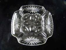 Early American Prescut Egg Plate or Relish EAP Anchor Hocking