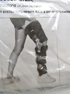 Bledsoe MC 26 Post Op Knee & Leg Brace Universal L1832 Black, Length 25-27 NOS
