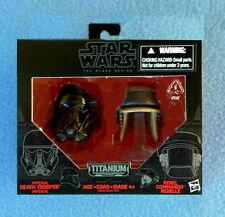 Star Wars Titanium Casques Imperial Death Trooper Rebel Commando Noir Série #6