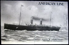 "SHIP~AMERICAN LINE ~ 1910 U.S. M.S.S. ""ST LOUIS"" ~ Statue of Liberty"
