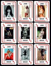 JANE BIRKIN 1 BOX WITH 54 POKER PLAYING CARDS - ARGENTINA! - NIB
