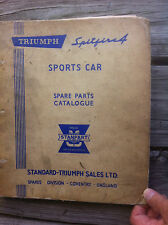 Triumph Spitfire4 (MKI &2) Spare Parts Catalogue Factory Original Fourth Edition