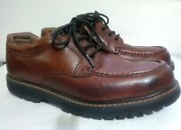Dockers Men Stain Defenders Brown Leather Shoes size 9.5 1/2 M 90-6702 Glacier