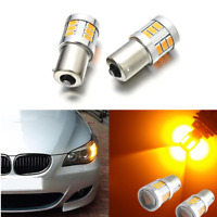 2pcs Error Free Yellow 18SMD BAU15S 7507 LED Bulb For Car Turn Signal Lights H7