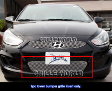 Fits 2012 Hyundai Accent Bumper Stainless Steel Wire X Mesh Blitz Grille Grill