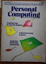 magazine, nostalgic, collectible, Personal Computing 1979-10