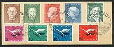 Bundespost  200 - 208 op papier met speciaal stempel