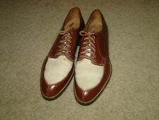 Vintage Leather Brown Men's Shoes Two Tone Original Boot Sz 7 B