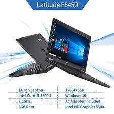 """New listing Dell Latitude E5450 14"""" Laptop i5-5300U 2.3Ghz 8Gb 128Gb Ssd Windows 10 Pro Hdmi"""