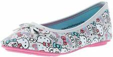 Sanrio Mädchen Kinder Ballerinas Halbschuhe Hello Kitty silber/mehrfarbig