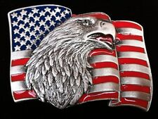 AMERICAN PRIDE UNITED STATES COUNTRY EAGLE FLAG BELT BUCKLE BOUCLE DE CEINTURE