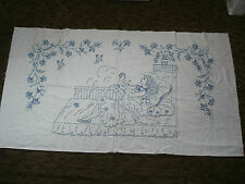 #710  Beautiful Vintage Hand Embroidered Tapestry  142cm/77cm(56''/30'')