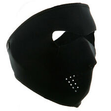 Black 2 in1 Reversible Neoprene Full Face Mask Ski Snow Motorcycle Cycling Biker