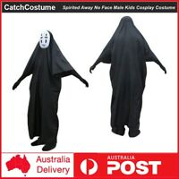 Spirited Away No Face Male Cosplay Costume Masks Kids Halloween Party Dress Up