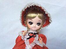 VTG Bradley Dolls Blonde Braided Baby girl doll original clothes big eyes Korea