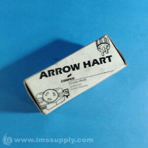 Cooper Arrow Hart 7410B 4 Pole 4 Wire Locking Receptacle, 20A FNFP