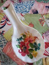 "Pioneer Woman Wildflower Whimsy 9"" Spoon Rest melamine farmhouse kitchen chic"
