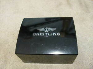 Authentic BREITLING Bakelite Black Watch Box WITH CASE/PILLOW INSIDE--FAIR READ