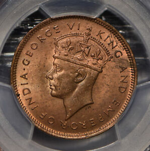 Mauritius 1945 5 Cents PCGS MS64RB PC0667 combine shipping