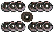 "10pc 40 Grit Flap Sanding Grinding Disc 4 1/2"" x 7/8"" Aluminum Oxide A/O NEW"