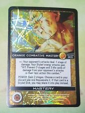 Dragon Ball Z DBZ CCG TCG Custom Panini Proxy Foil 20 Orange Combative Mastery
