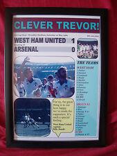 West Ham United 1 Arsenal 0 - 1980 FA Cup final - framed print