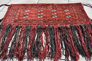 Fabulous Antique Collector's Item Tribal Bokhara Rug Rolling Pin Bag Torba Rug