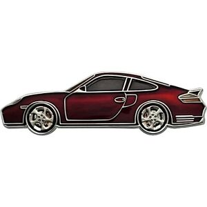 911turbos Geocoin, Polished Silver finish, Red, Unactivated