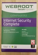 Webroot Internet Security Complete 2018| 3 YRS | 5 PC/MAC/MOBILE | KEY EMAILED