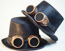 SteamPunk-Gothic-SCIFI-Cosplay-Victorian-TOP HAT-BRASS STYLE OVERSIZE GOGGLES