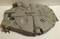 Vintage Star Wars Millennium Falcon Action Figure Case w/ Wedge Antilles Figure