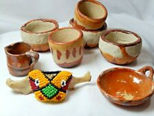 Miniature Southwestern Doll house Pottery Lot of 8