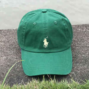 NWT Polo Embroidered Pony Baseball Cap Classic Adjustable Golf Sun Hat Green