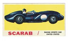 1961 Topps Sports Cars Card #29 SCARAB Racing Sports Car
