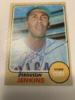 1968 Topps #410 Ferguson Jenkins signed card great shape!!