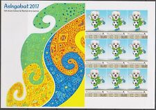 Turkmenistan 2017 Asian Games Soccer Football Dog Extremely Rare Imperf sheet!