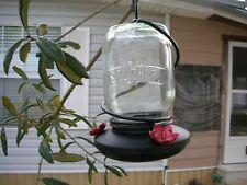 glass jar  Hanging Hummingbird Feeder ~ 1 per auction