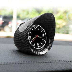 Carbon Fiber Car Truck Interior Dashboard Clock Glass Mirror Luminous Backlight