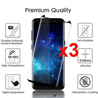 For Samsung Galaxy S9 S8 Plus Case Friendly Real Tempered Glass Screen Protec XS